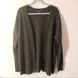 Olive Green Sweater Cardigan Forever 21 Plus Size
